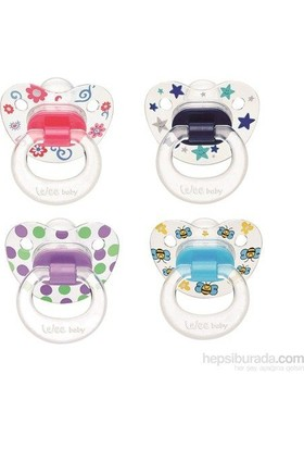 Wee Baby Baby Şeffaf Desenli Silikon Damaklı Emzik No:3