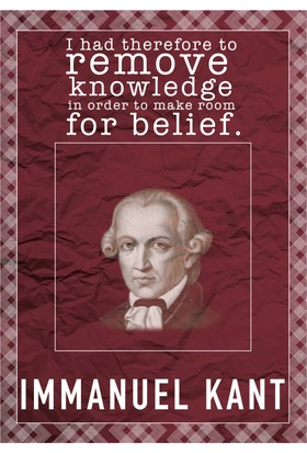 decArtHOME Immanuel Kant D Poster (30 x 42 cm)