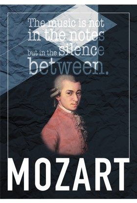 decArtHOME Mozart A Poster (30 x 42 cm)