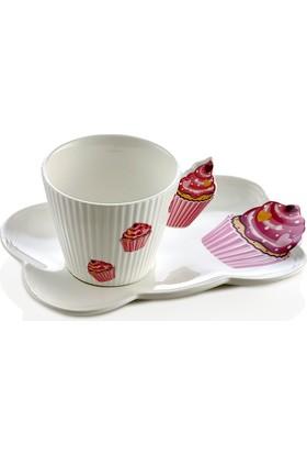 Nbl Cupcake 6Lı Çay Fincan Seti