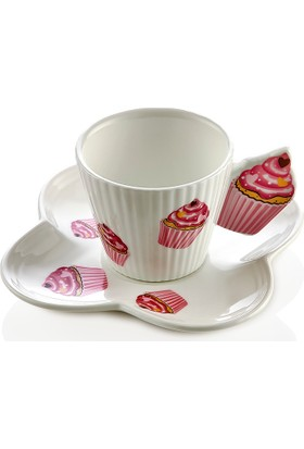 Nbl Cupcake 6 Lı Kahve Fincan Seti