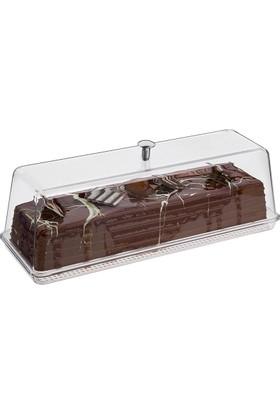 Kek Pasta Teşhir Tepsi+Köşeli Kapak