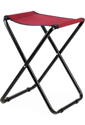 Katlanır Piknik Kamp Taburesi - Kırmızı