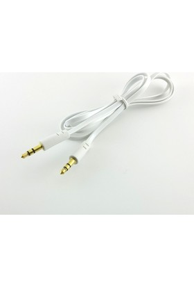 Electroon 3.5Mm Stereo Flat Audio Aux Kablo Beyaz