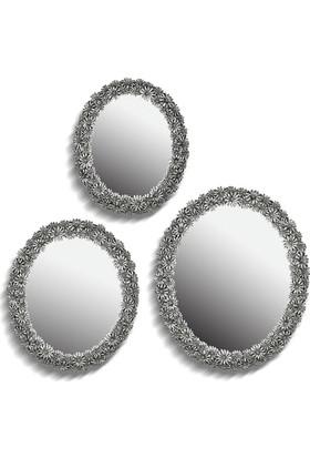 Noble Life 3'lü Daisy Gümüş Ayna