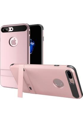 Melefoni Apple iPhone 7 Plus Kılıf Gizli Stant Modlu Araç Tutucu Uyumlu