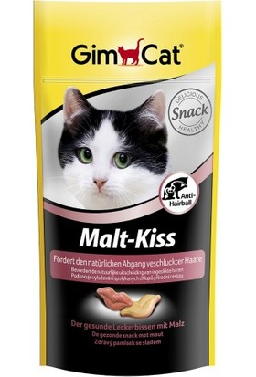 Gimpet Kedi Malt Kiss Dudak Şekilli Ödül Tableti 40gr