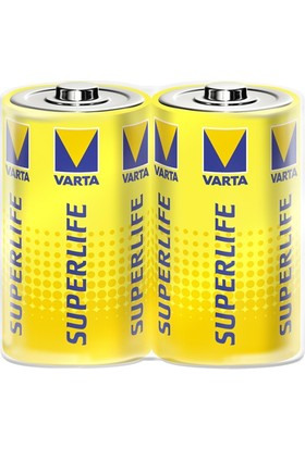 Varta 2020 Superlife D Size 2Li Büyük Boy Pil ( Shrink )