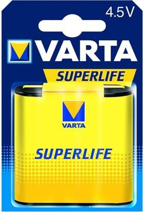 Varta 2012 Superlife 4.5 V Yassı Pil