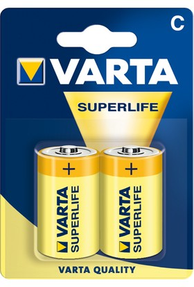 Varta 2014 Superlife C Size 2Li Orta Boy Pil ( Blister )