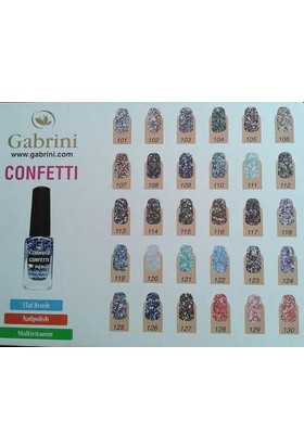 Gabrını Confettı Flat Brush Oje 13 Ml No:107