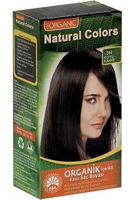 Organic Natural Colors Bitkisel Kalıcı Saç Boyası 3N Koyu Kahve