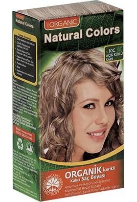 Organic Natural Colors Bitkisel Kalıcı Saç Boyası 10C Açık Küllü Sarı