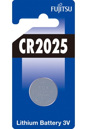 Fujitsu Cr2025 3V Lithium Pil Blister