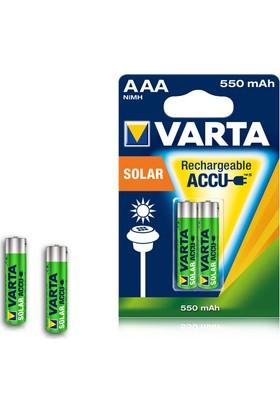 Varta 56733 Solar Accu Aaa 550 Mah İnce Kalem Pil 2Li Blister