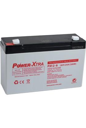 Power-Xtra 6V 12 Ah Bakımsız Kuru Akü