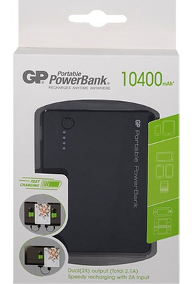 Gp Gpn304Bpe Portable Powerbank Li-İon 10400 Mah Harici Batarya Siyah