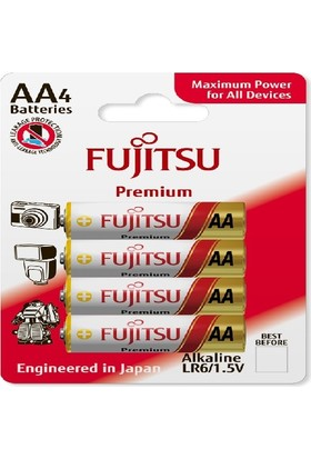Fujitsu Premium Lr06 Alkaline Kalem Aa Size Pil 43 Lü Blister