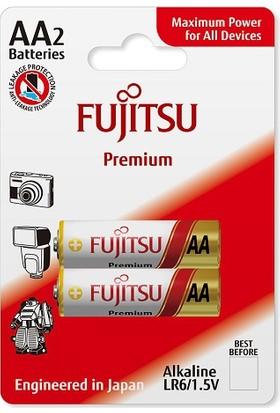 Fujitsu Premium Lr06 Alkaline Kalem Aa Size Pil 2Li Blister