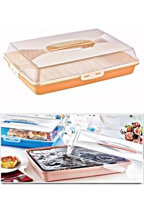 Kitchen Love Kapaklı-Taşımalı,Pasta&Börek Kutusu