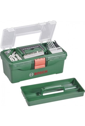 Bosch Takım Çantası - 59 parça Delme, Vidalama ve Sabitleme Setli