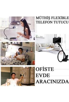 Leyaton Telefon Tutucu Esnek Ofis Masa Yatak Araç İçi