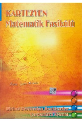 Kartezyen Eğitim Yayınları Matematik Fasikülü Birinci Derece - Remzi Şahin Aksankur