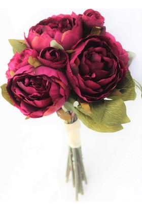 Yapay Çiçek Deposu Yapay Çiçek Şakayık Gül Buketi