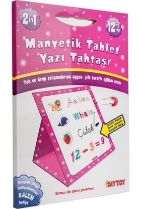 Diytoy Manyetik Tablet Yazı Tahtası Pembe