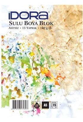 Idora Sulu Boya Blok 180 gr 15 Yp. A5