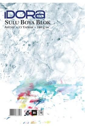Idora Sulu Boya Blok 180 gr 15 Yp. A4