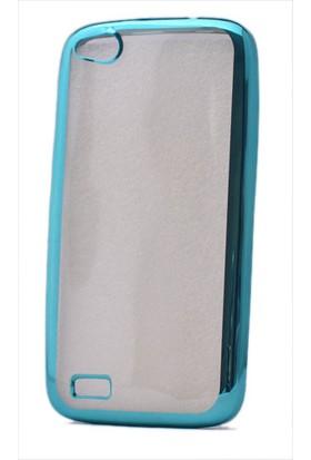 Kny General Mobile Discovery E3 Kılıf Renkli Kenarlı Silikon +Cam