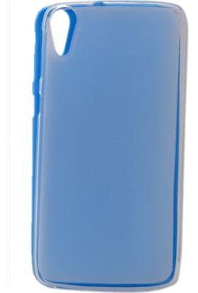 Kny Htc Desire 828 Kılıf Süper Silikon +Cam