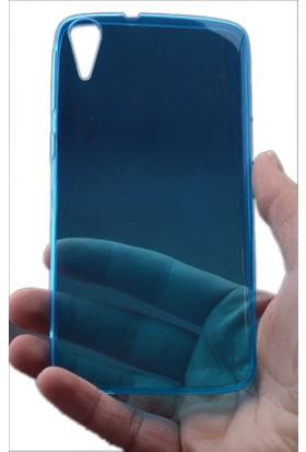 Kny Htc Desire 828 Kılıf Ultra İnce Silikon +Cam