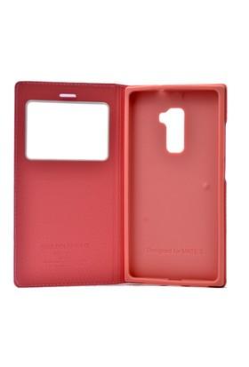 Kny Huawei Ascend Mate S Kılıf Gizli Mıknatıslı Pencereli +Cam