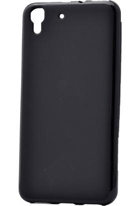 Kny Huawei Ascend Y6 Kılıf Süper Silikon +Cam