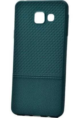 Kny Samsung Galaxy A7 2016 Kılıf Nokta Desenli Silikon +Cam