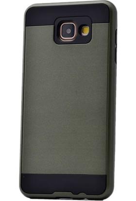 Kny Samsung Galaxy A9 Kılıf Ultra Korumalı Silikon +Cam