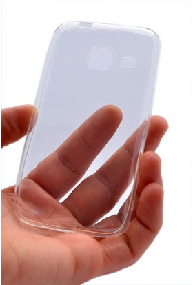 Kny Samsung Galaxy J1 Mini Kılıf Ultra İnce Silikon +Cam