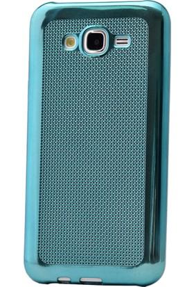 Kny Samsung Galaxy J5 Kılıf Hasır Desenli Silikon +Cam