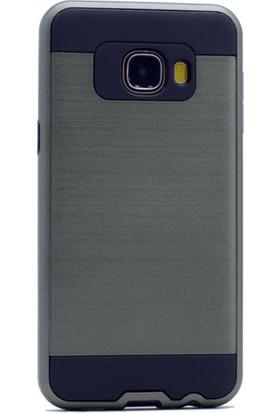 Gpack Samsung Galaxy C7 Kılıf Çift Katmanlı Darbe Emici Sert Kapak