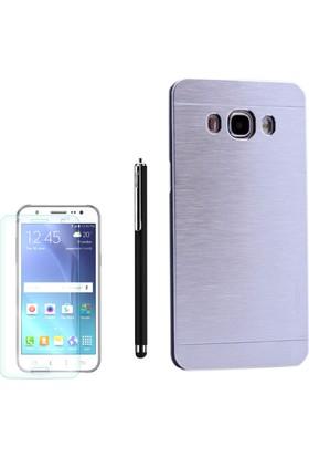 Gpack Samsung Galaxy J7 2016 Kılıf Sert Arka Kapak Motomo +Kalem +Cam