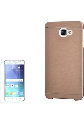 Gpack Samsung Galaxy C7 Kılıf Sert Arka Kapak Motomo + Cam