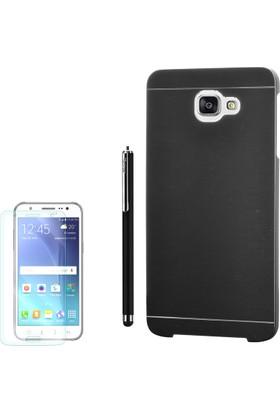 Gpack Samsung Galaxy C7 Kılıf Sert Arka Kapak Motomo +Kalem + Cam