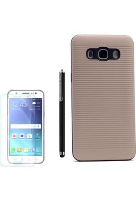 Gpack Samsung Galaxy J7 2016 Kılıf Youyou Silikon Arka Kapak +Kalem+Cam