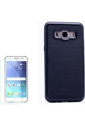 Gpack Samsung Galaxy On7 Kılıf İnfinitiy Motomo Sert Arka Kapak + Cam