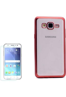 Gpack Samsung Galaxy On7 Kılıf Premier Silikon Yumuşak Arka Kapak + Cam