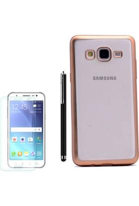 Gpack Samsung Galaxy On7 Kılıf Premier Silikon Yumuşak Arka Kapak +Kalem+Cam
