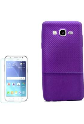 Gpack Samsung Galaxy On7 Kılıf Matrix Silikon Arka Kapak + Cam
