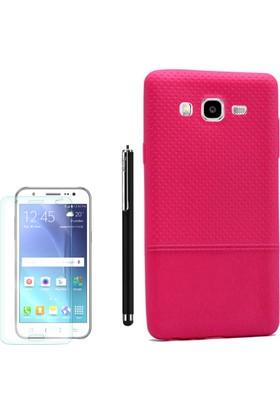 Gpack Samsung Galaxy On7 Kılıf Matrix Silikon Arka Kapak +Kalem + Cam